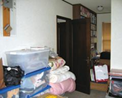 キッチン横の子供部屋はかつてのウォークインクローゼット