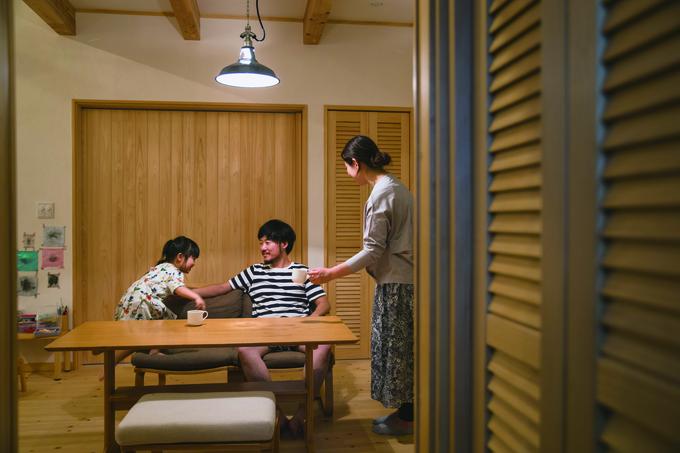ひのきの家 静岡県家づくり浜松協同組合|「今日は外でおやつを食べようか!」とご主人の提案