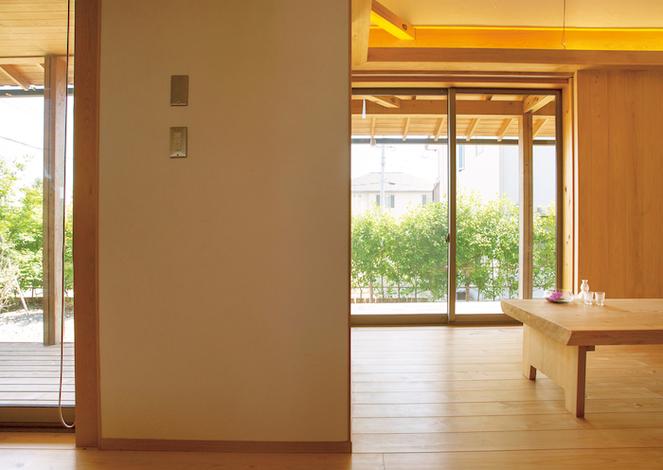 自然素材の家で流れる穏やかな時間を体感
