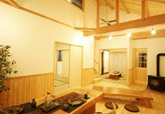 ペレットストーブと暮らす自然素材の家