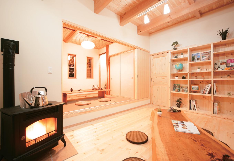 天然木の香りと自然素材の癒しを体感する家