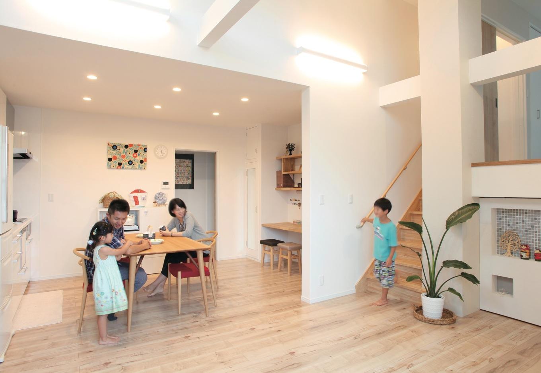 アートのある暮らしを満喫! 北欧スタイルの二世帯住宅