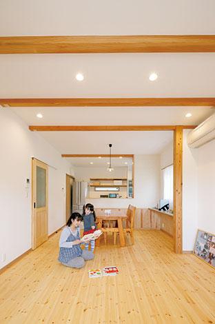 家族のつながりを感じる 無垢と自然素材の家が好き