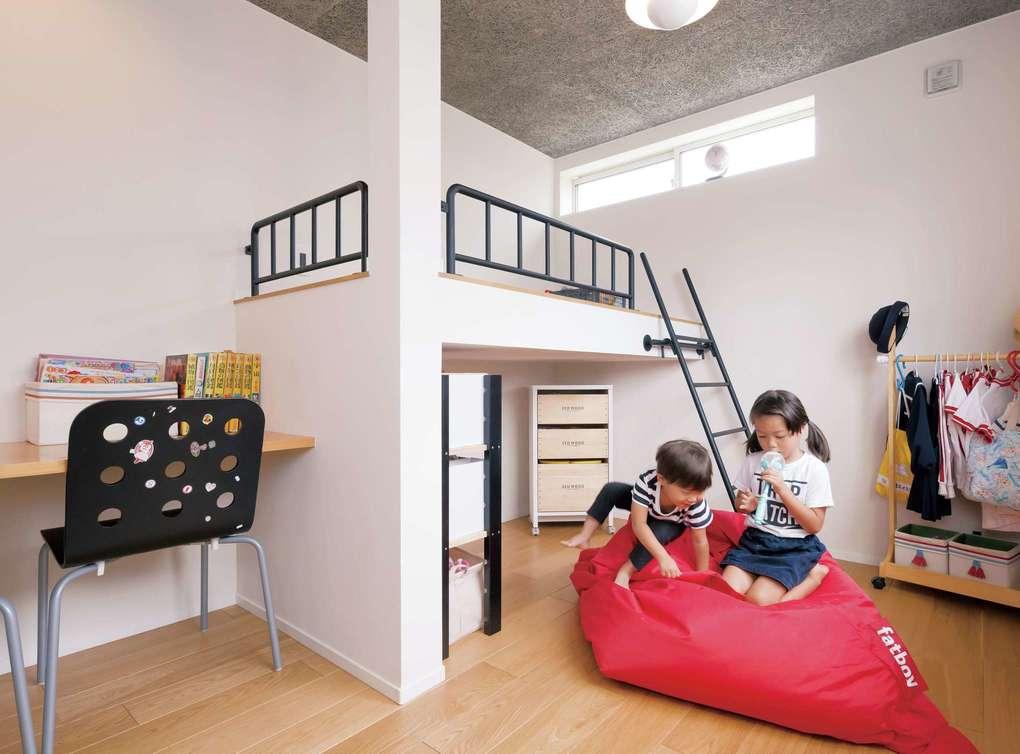幸和ハウジング【デザイン住宅、狭小住宅、インテリア】子どもが小さいうちはワンルームを仲良くシェア