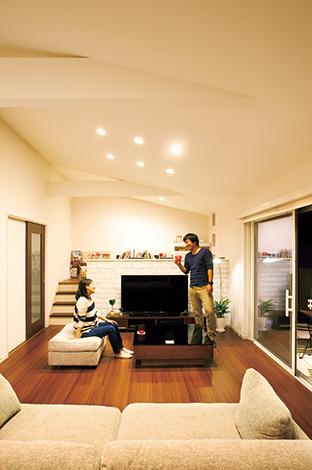幸和ハウジング【デザイン住宅、収納力、平屋】ワンフロアの暮らしは家族の一体感を育み、自然を感じる場面を増やす。将来を考えてもメリットは多い