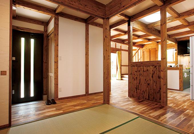 サイエンスホーム【1000万円台、和風、間取り】普段は和室の襖をフルオープンにして、より開放的な空間で過ごす