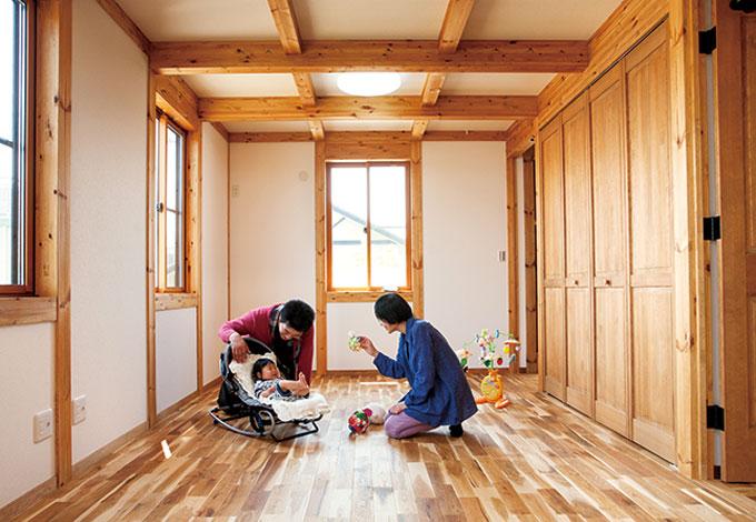 サイエンスホーム【1000万円台、和風、間取り】10畳を超える子ども部屋は、家族構成やライフスタイルの変化に応じてフレキシブルに対応できる