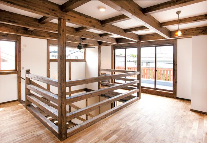 サイエンスホーム【1000万円台、デザイン住宅、間取り】子どもたちがのびのび過ごせるファミリースペースは、雨の日でも退屈知らず