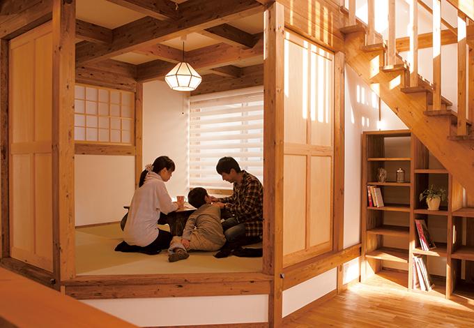 サイエンスホーム【1000万円台、収納力、狭小住宅】子どもの独立後は、1階で生活を完結できるように造った小上がりの和室