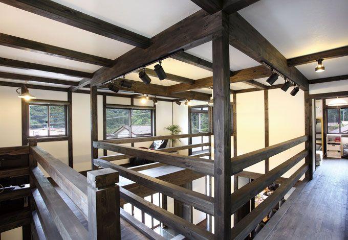 サイエンスホーム【デザイン住宅、狭小住宅、間取り】真壁工法ならではのダイナミックな空間構成を楽しめる2階フロア
