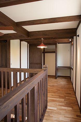 サイエンスホーム【1000万円台、デザイン住宅、狭小住宅】2 階ホール部分は子どもの遊び場として活用