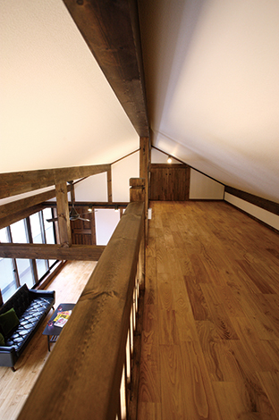 サイエンスホーム【1000万円台、デザイン住宅、二世帯住宅】収納力を備えた18㎡のロフト
