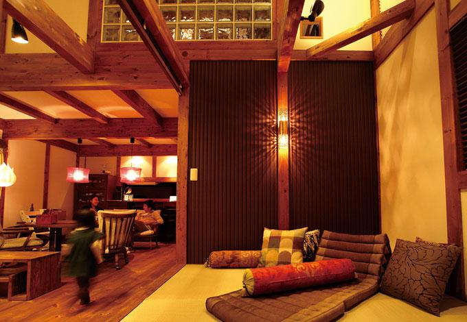 サイエンスホーム【デザイン住宅、狭小住宅、省エネ】和の作品もプラズマカットの縁どりでアジアンチックに