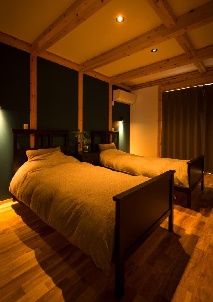 サイエンスホーム【浜松市浜北区西美薗652-2・モデルハウス】大人な雰囲気の主寝室