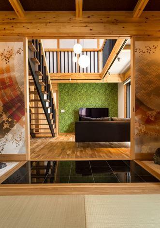 旅館をイメージした本格的な和室