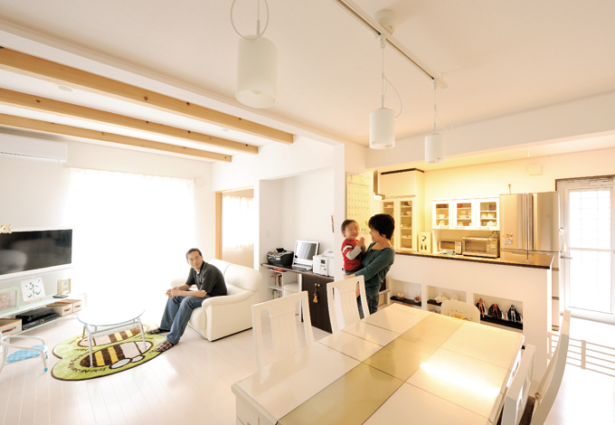 デザインと使い勝手を両立 総天竜杉の長期優良住宅