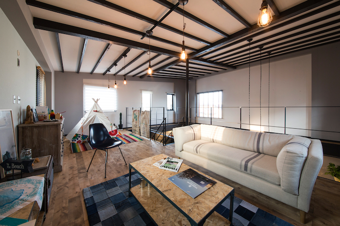 木場建築設計 KIBA-AD【浜松市中区住吉5-8-19・モデルハウス】ロフトスペースは自分だけの空間にすることも可能。心地よい時間を過ごせる