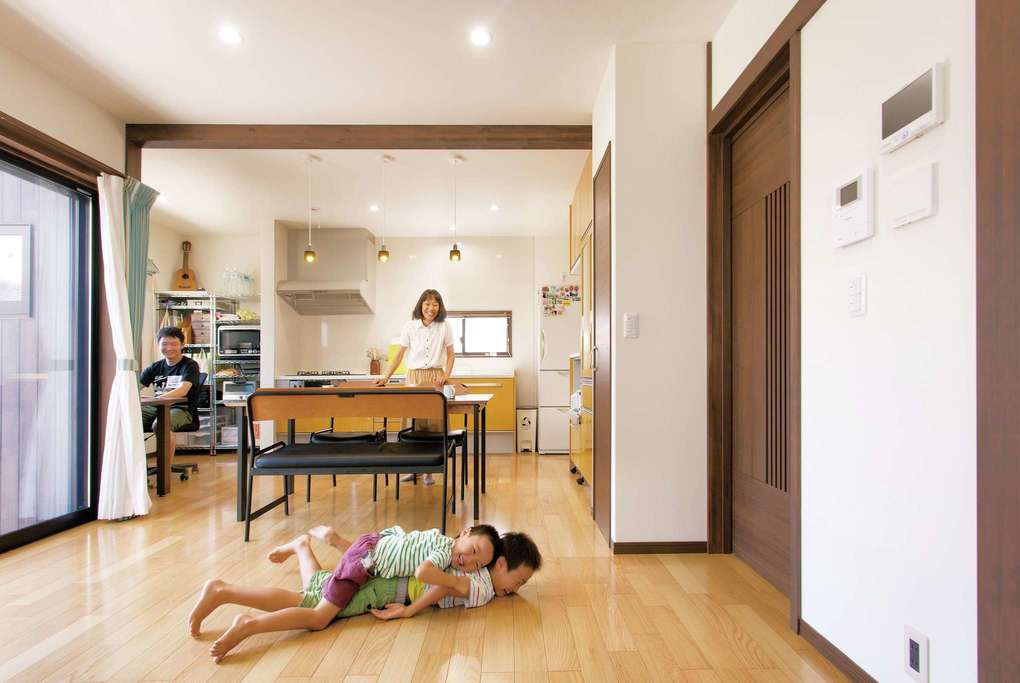 女性設計士が提案した全室南向きの空気がおいしい家