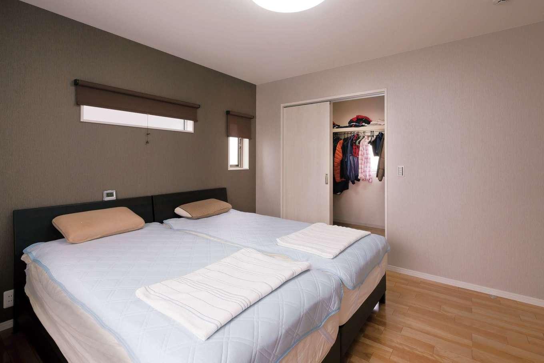 かなめ創建【収納力、省エネ、間取り】寝室からもバルコニーに直結