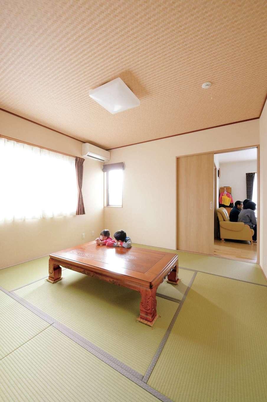 かなめ創建【二世帯住宅、省エネ、間取り】8畳の和室は両親の寝室に