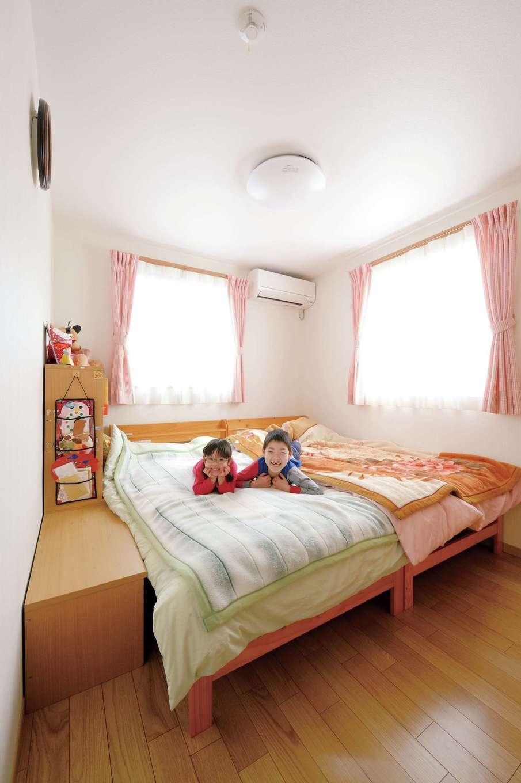 かなめ創建【二世帯住宅、省エネ、間取り】お子さんが小さいうちは、子ども室の片方を寝室に