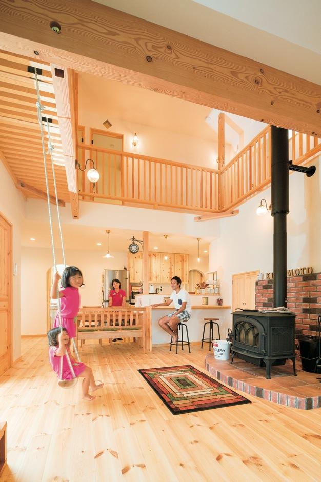 「塔のある家」の中に広がる楽しさいっぱいの遊び空間