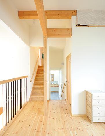 Casa(カーサ)【デザイン住宅、自然素材、間取り】2階のフリースペース。将来、壁 をつくり部屋にすることもできる