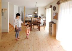 ゆっくり時間が流れる 自然素材の家が好き