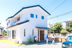 真っ白い漆喰の家…家づくりが素敵な想い出になった