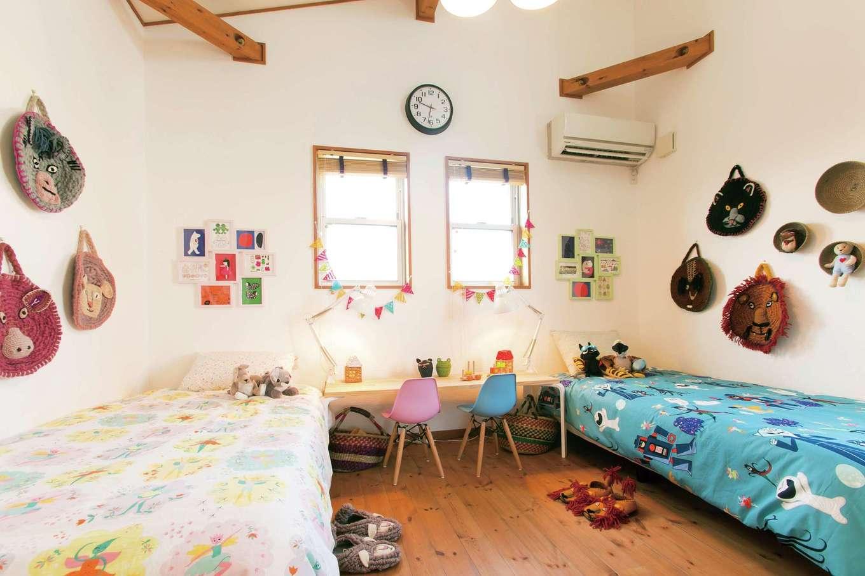 BinO志太・榛原 マルジン総建【島田市井口1357・モデルハウス】子ども部屋は、男の子用・女の子用のコーディネートを見ることができる