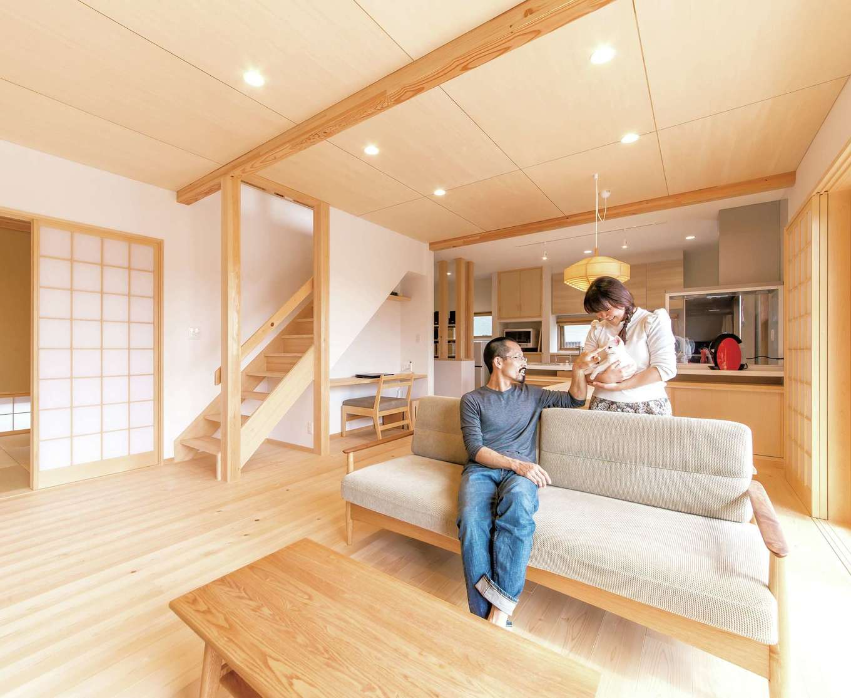 土間と家事室が豊かな暮らし心地をもたらす、天竜ひのきの家