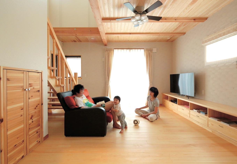 キレイな空気の中でのびのび子育てができる家