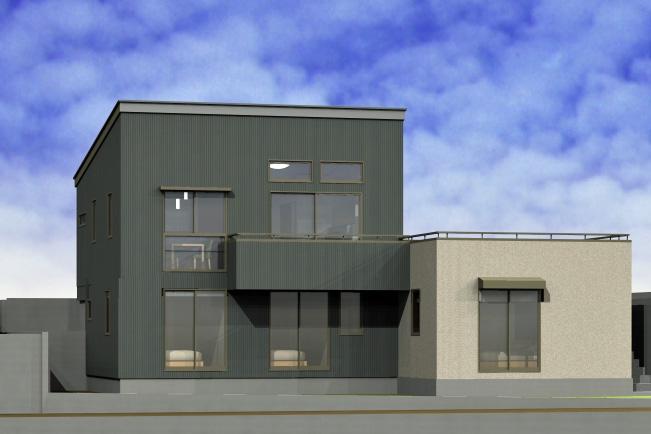 傾斜地を賢く利用した青空リビングの家 完成見学会