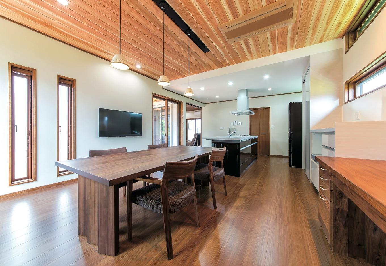 職人仕事+現代的なセンス 上質感に満ちた平屋住宅
