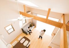 それぞれの趣味空間と快適なLDKで「まったり」できる家