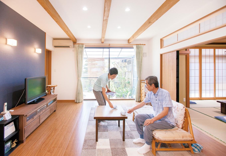 広い庭を楽しむLDKと和室、 年中快適な理想のわが家へ