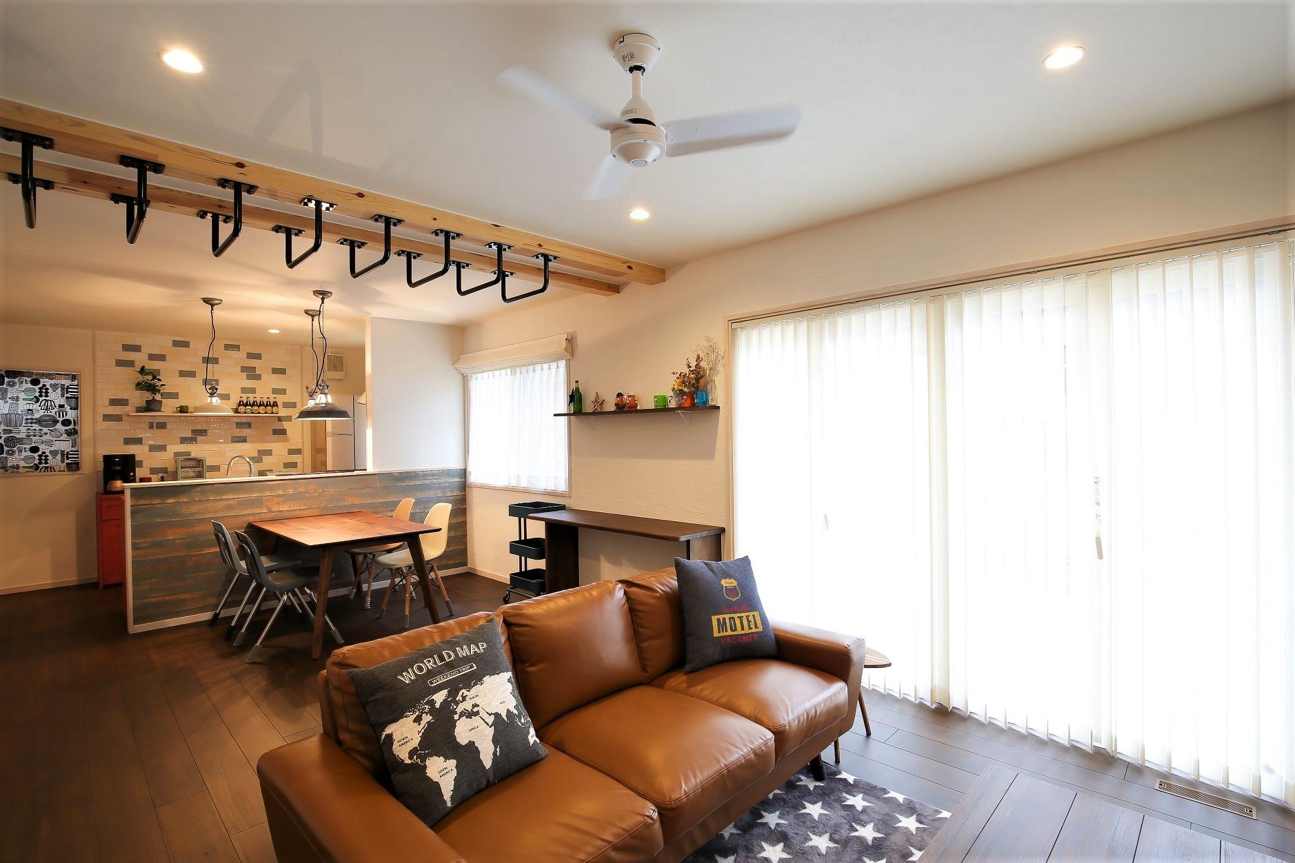 サンエフホーム【デザイン住宅、自然素材、インテリア】 LDKは使い勝手、デザイン、遊び心を取り入れた妥協の無い住空間に