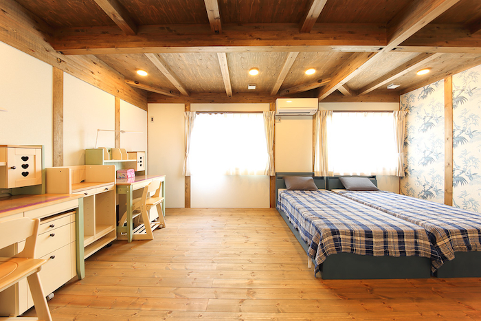 BinO静岡 長田建設【デザイン住宅、平屋、1000万円台】12畳の子供部屋。子どもの成長に合わせ2つに仕切ることも可能