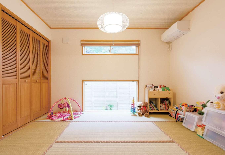 ハートホーム【デザイン住宅、子育て、輸入住宅】子どもの遊び場にも、客間にもなる和室