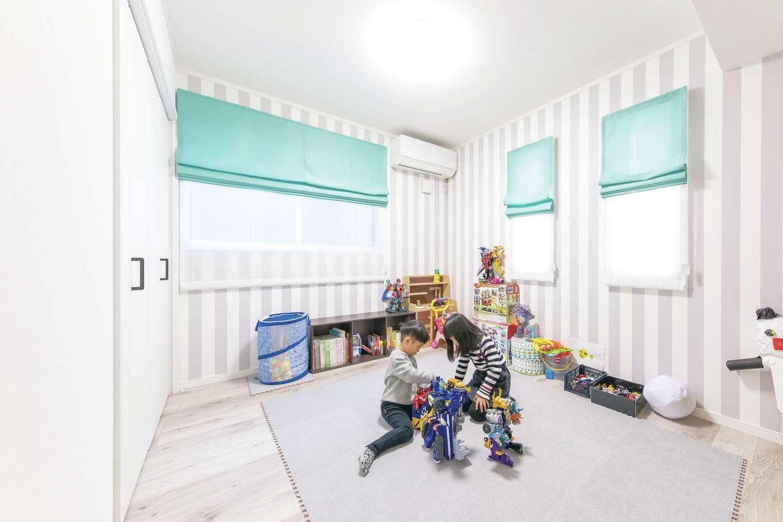 ハートホーム【デザイン住宅、収納力、自然素材】姉弟それぞれに個室ができて、友達を呼びやすくなった