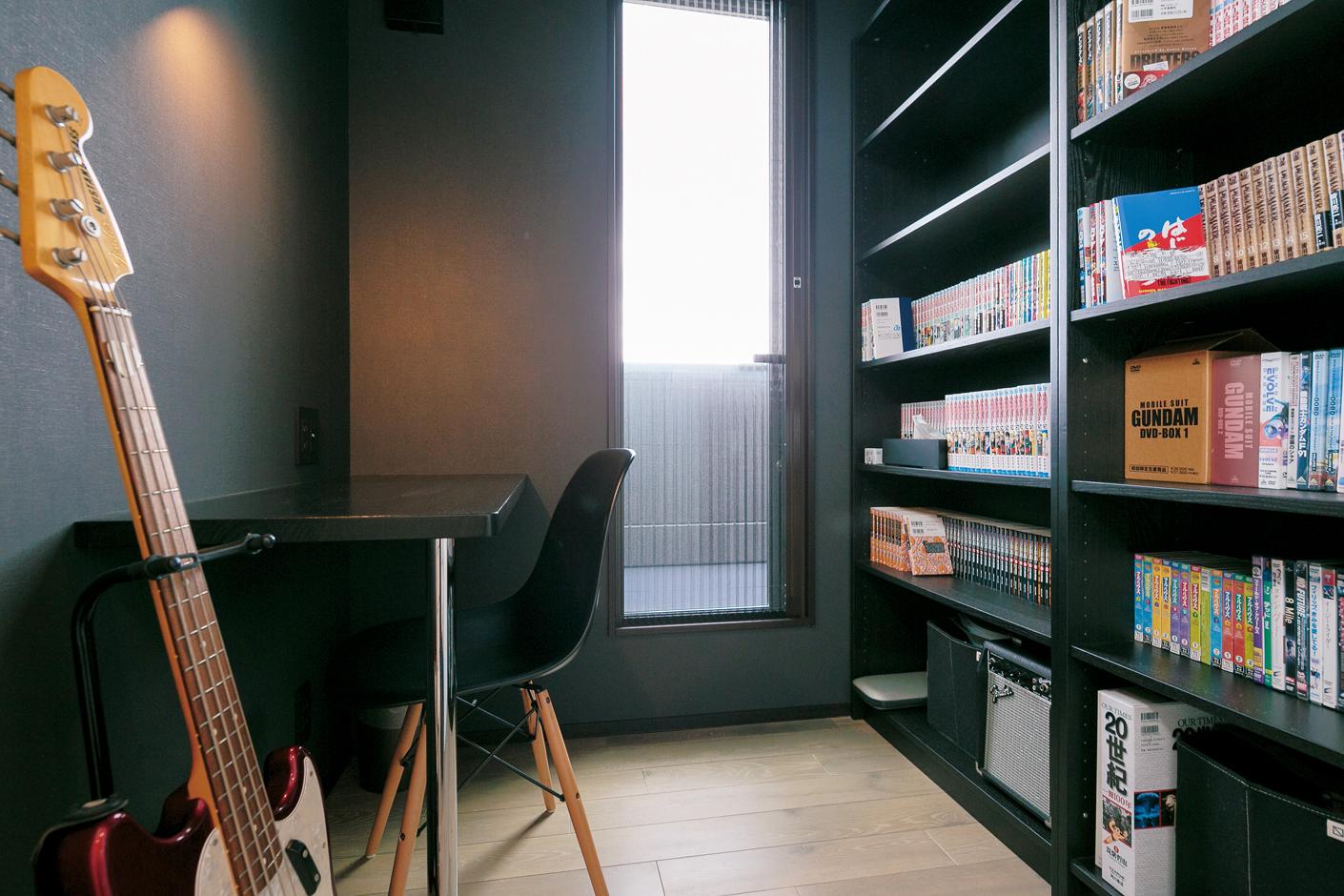 納得住宅工房【デザイン住宅、趣味、間取り】2畳の書斎。お一人様の優雅な時間を楽しめる