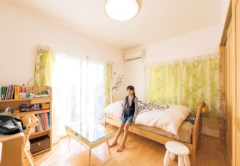 納得住宅工房|今回のリフォームで叶ったナチュラルな雰囲気の子ども部屋