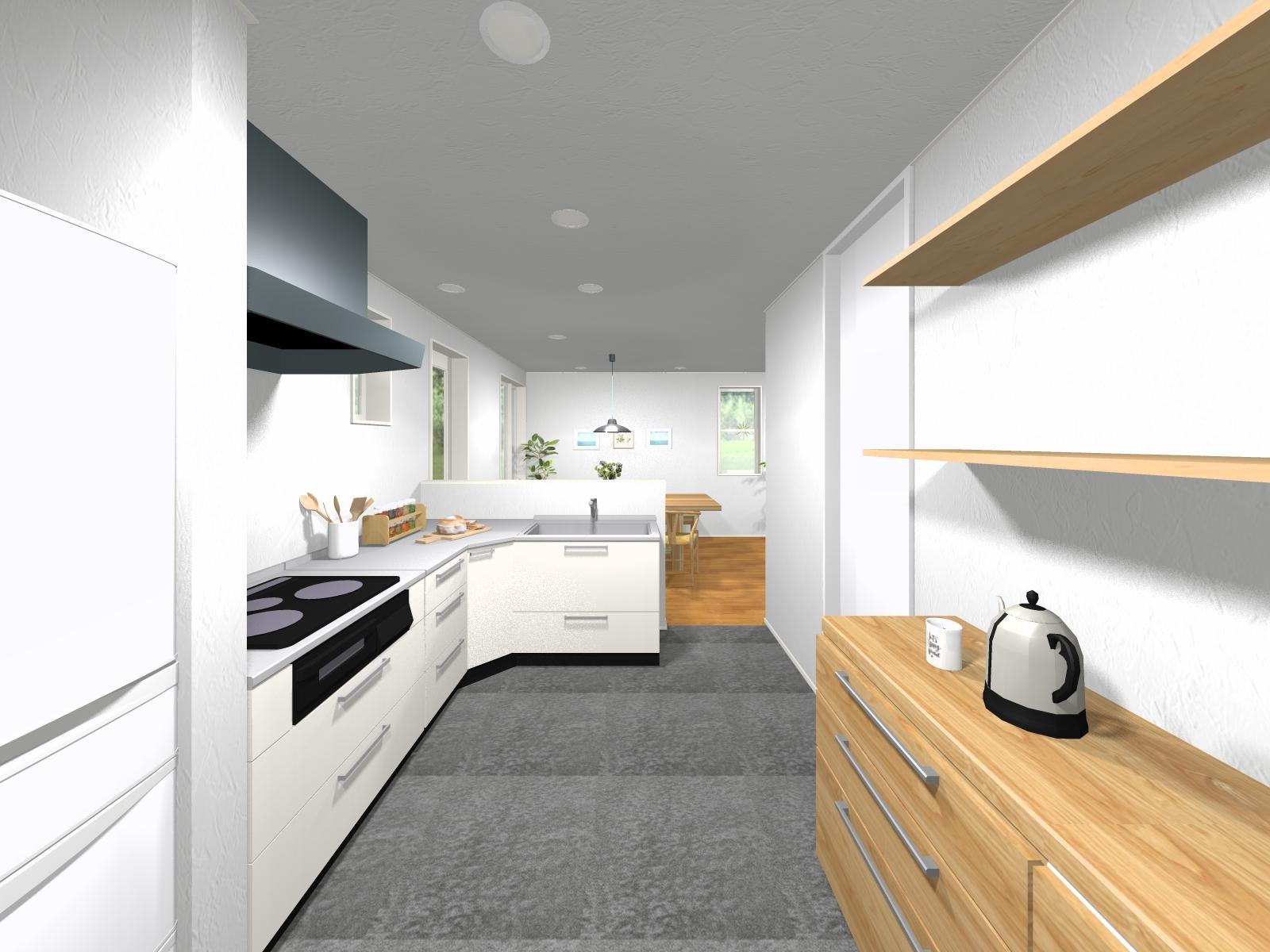 豊富な収納スペースのあるL型キッチン♪