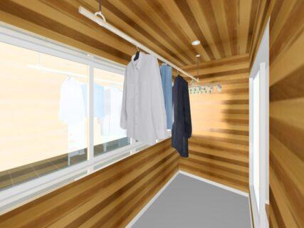 ・暖かい空間を演出 天井のレッドシダー