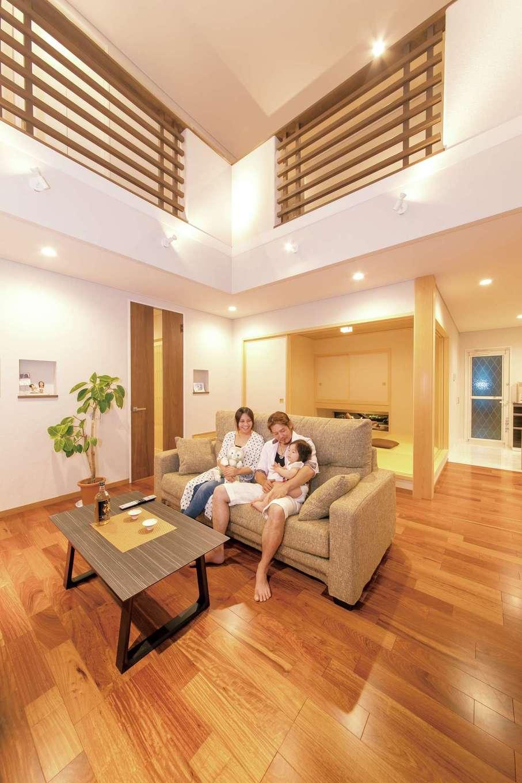 開放感と和モダンが響き合い、五感に作用する「真の健康住宅」