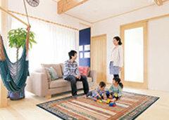 広がる、つながる、包み込む 心地いい素材が安心を抱く家