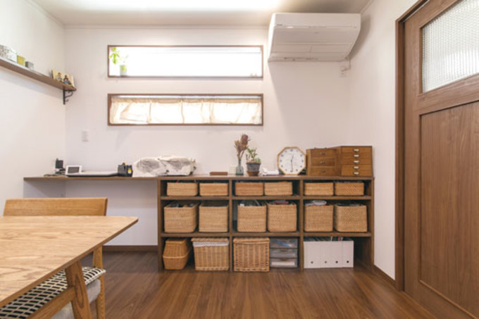 市販の雑貨を使った造作棚など 真似したくなる収納アイデア