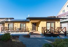天然素材を使った「フェリーチェ」 癒しと笑顔の絶えない平屋の家