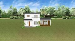 一つひとつの素材のバランスが良い家が完成しました。