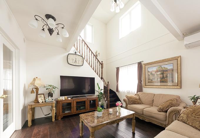 セルコホーム三島 西田工務店【デザイン住宅、輸入住宅、インテリア】家具は輸入家具の専門店『アシュレイ家具』で購入。完成前に間取り図で広さを見ながら選んだ